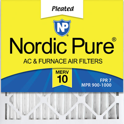 18x18x2 Pleated MERV 10 Air Filters 3 Pack
