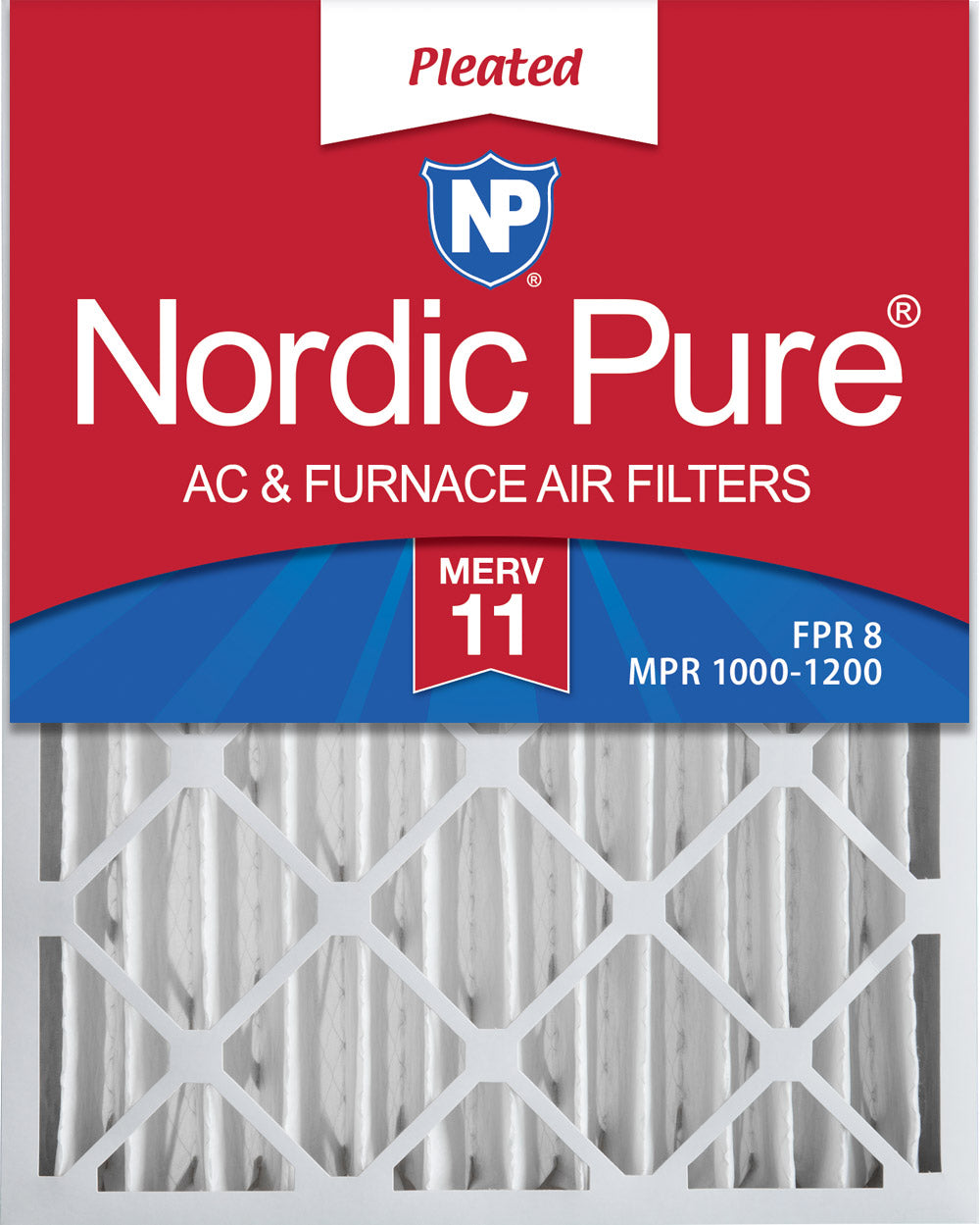 14x20x4 MERV 11 Pleated AC Furnace Air Filters 2 Pack