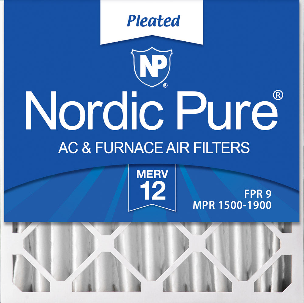 20x20x4 (3 5/8) Pleated MERV 12 Air Filters 1 Pack