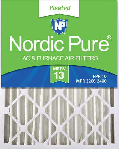 16x25x4 (3 5/8) Pleated MERV 13 Air Filters 2 Pack