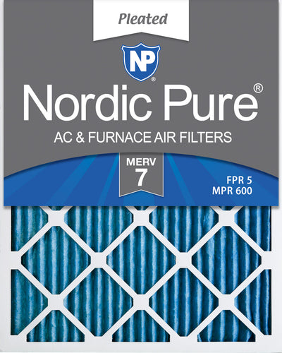 12x25x2 Pleated MERV 7 Air Filters 3 Pack
