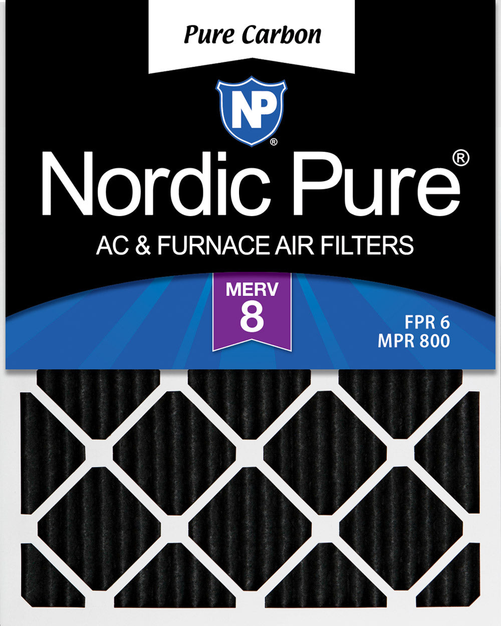 Nordic Pure 14x36x1 MERV 12 Pleated AC Furnace Air Filters 3 Pack
