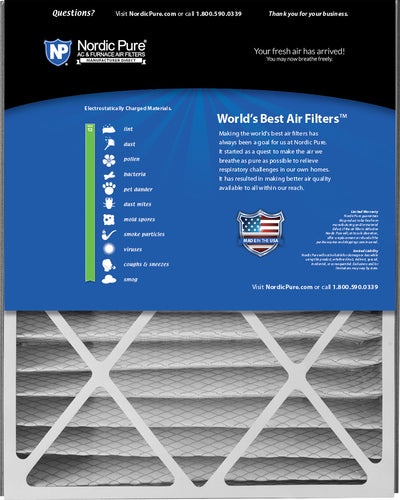 Air Bear 20x25x5 (4 7/8) Replacement 266649-102 MERV 13 Air Filters 4 Pack