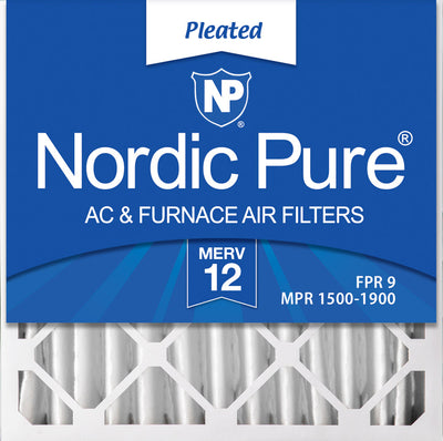 20x20x4 (3 5/8) Pleated MERV 12 Air Filters 2 Pack