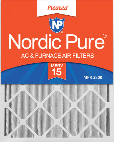 16x25x4 (3 5/8) Pleated MERV 15 Air Filters 1 Pack