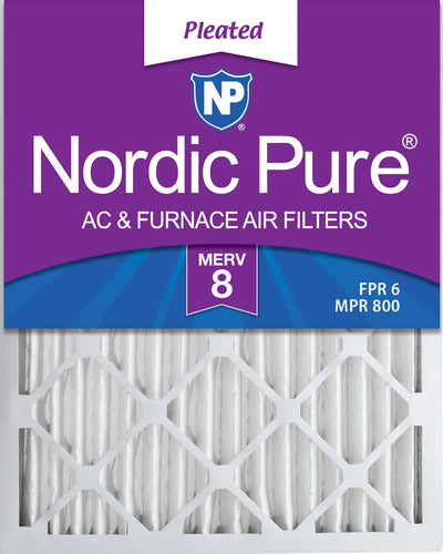 30x36x2 MERV 8 Pleated AC Furnace Air Filters 4 Pack