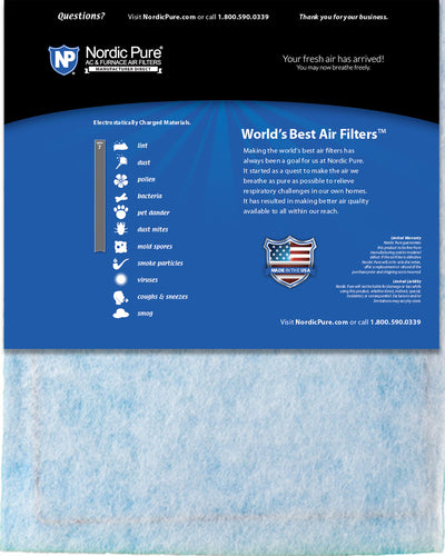 18x24x 1/2 Half Inch Ring Panel MERV 7 Furnace Air Filters 6 Pack