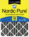 16x20x4 (3 5/8) Furnace Air Filters MERV 10 Pleated Plus Carbon 1 Pack
