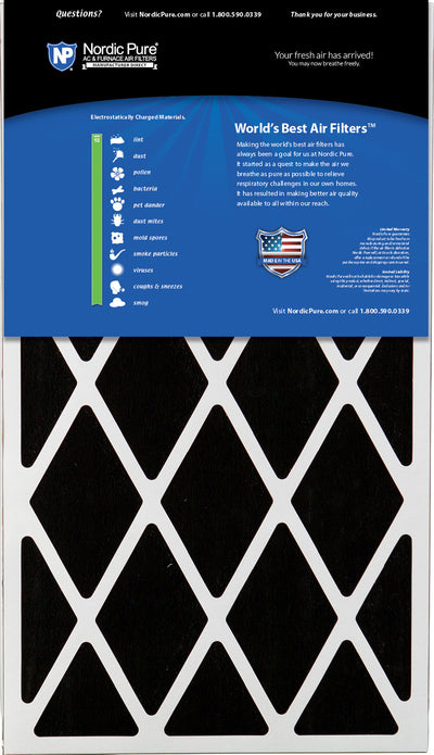 16x28x6 Aprilaire Space-Gard 2400 Replacement Air Filter Part 401 MERV 13 Plus Carbon 1 Pack