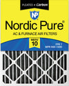 14x25x2 Furnace Air Filters MERV 10 Pleated Plus Carbon 3 Pack