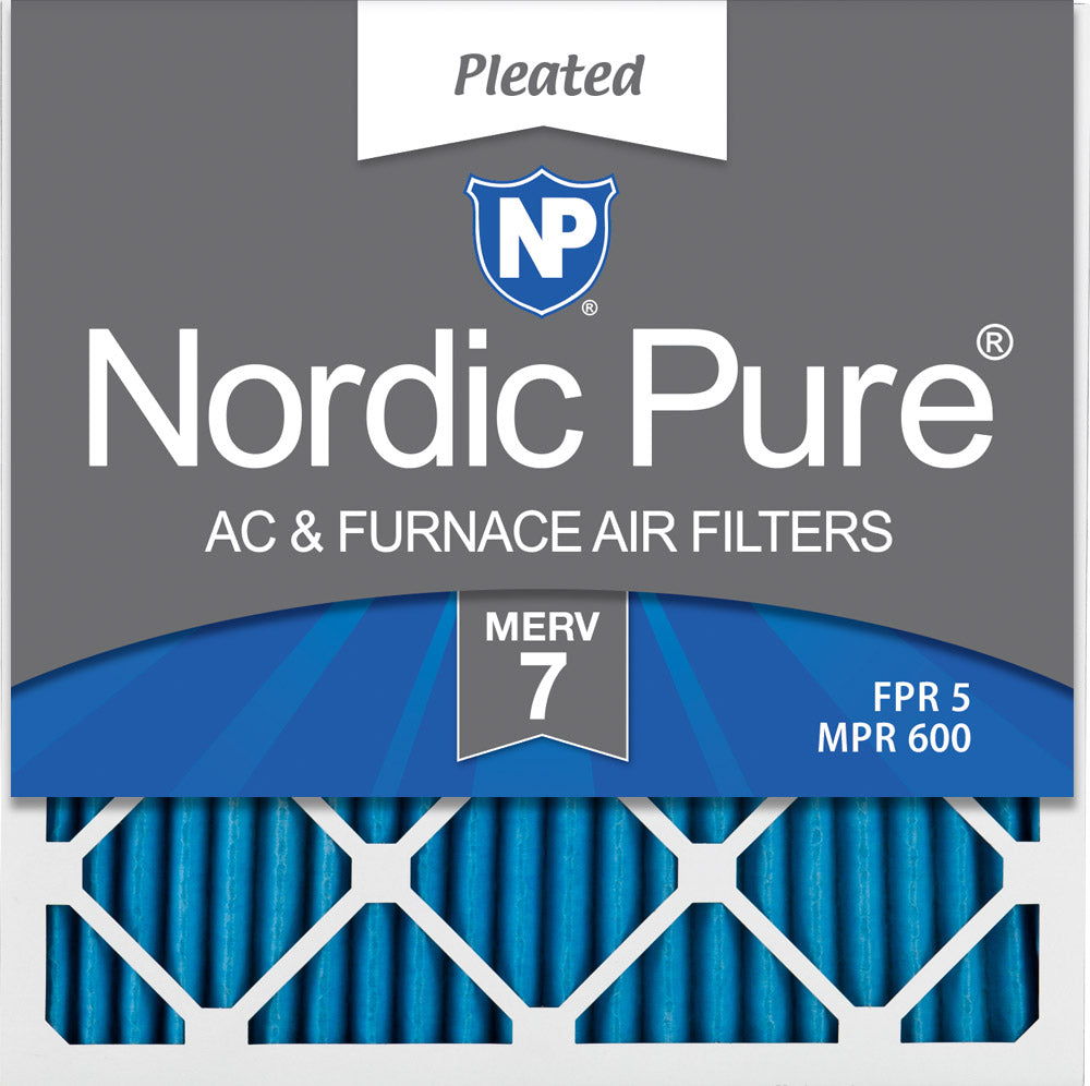Nordic Pure 21x21x1 MERV 12 Pleated AC Furnace Air Filters 2 Pack