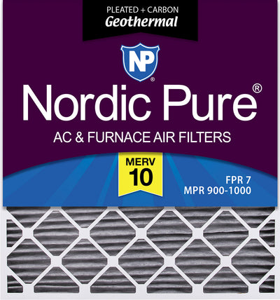 Nordic Pure 14x24x1 MERV 10 Pleated AC Furnace Air Filters 4 Pack