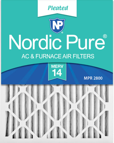 14x25x2 Pleated MERV 14 Air Filters 12 Pack