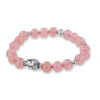 Rose Quartz & Buddha Head Stone Bracelet