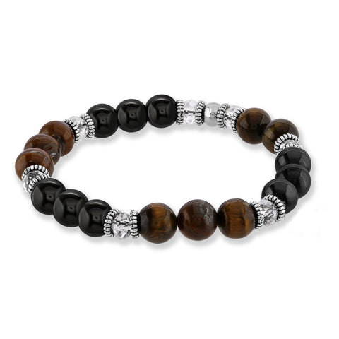 Tiger Eye & Pyrite Stone Bracelet
