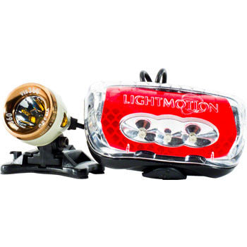 Light and Motion Vis 360 Plus Rechargeable Headlight and Taillight Set: Snowdrift