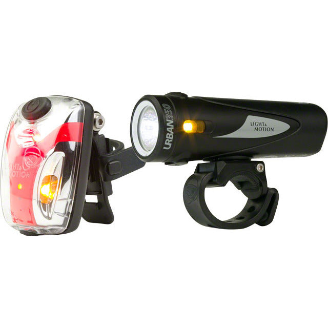 Light and Motion Urban 350/ Vis Micro Combo Rechargeable Headlight and Taillight Set
