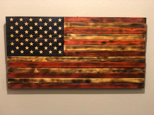 Distressed Wooden American Flag (Large)