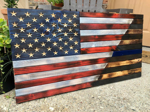 Old Glory/Thin Blue Line (Large)
