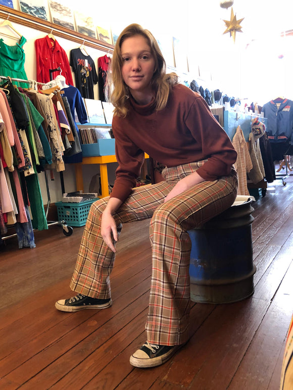 1970's Plaid Pants