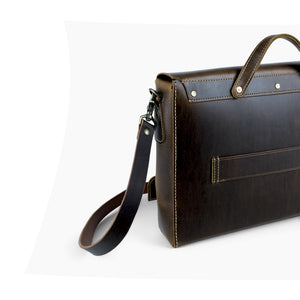 Leather Messenger Bag | Dark Brown