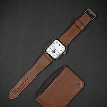 Load image into Gallery viewer, Black Apple 38/40mm Leather Watch Strap