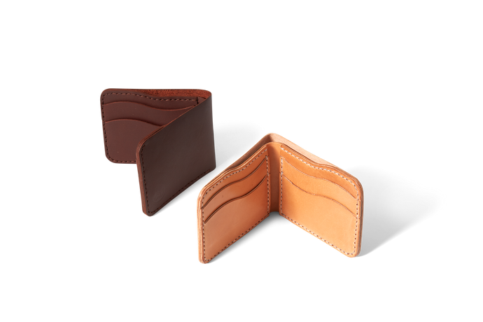 Handmade Bifold leather Wallet | Russet Brown