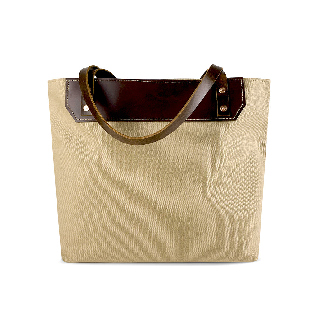canvas tote bags with leather handles