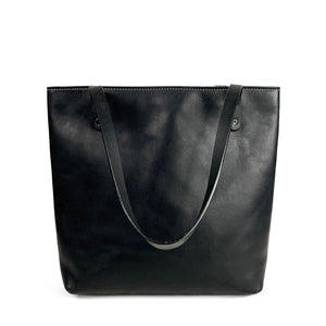 Black Handmade Leather tote | Artisanal L:ab