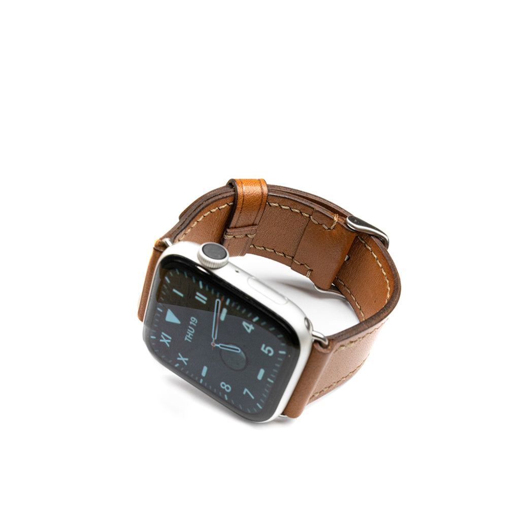 Handmade Tan Apple leather watch bands