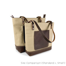 Load image into Gallery viewer, Canvas Leather Tote Bags - Standard