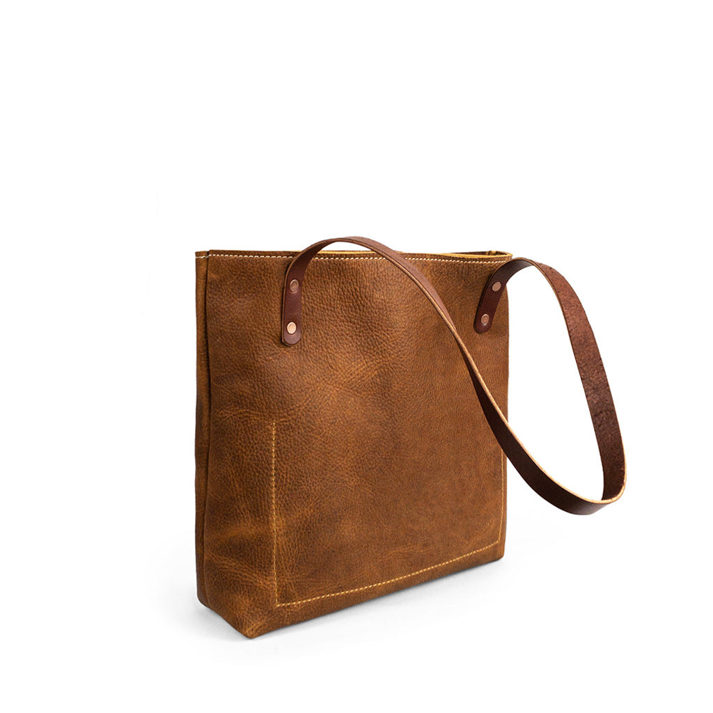 Classic Handmade Leather Tote bag | Milled Saddle