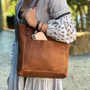 Classic Handmade Leather Market Tote | Artisanal Lab