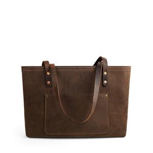 Brown Leather Work Shoulder Bag | Crazy Weather