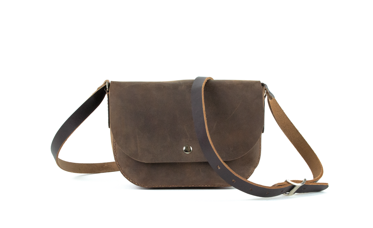 Handmade Crossbody Bag | Medium Brown
