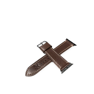 Brown Apple 38/40mm Leather Watch Strap