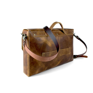 Genuine Leather messenger bag brown