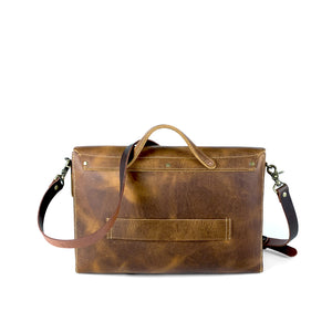 genuine brown mens leather messenger bag
