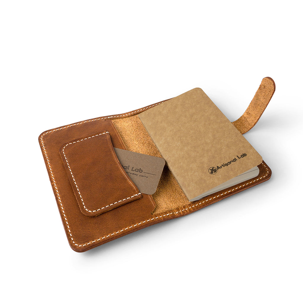 Leather Field Notes Passport Cover | English Tan-02