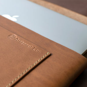 Macbook Pro 13-inch Leather Case | Saddle Tan -05