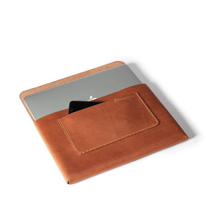 Macbook Pro 13-inch Leather Case | Saddle Tan -03
