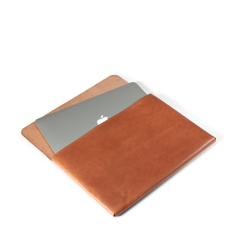 Macbook Pro 13-inch Leather Case | Saddle Tan -04