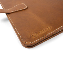 Load image into Gallery viewer, Leather Portfolio iPad Pro 11-inch case| English Tan