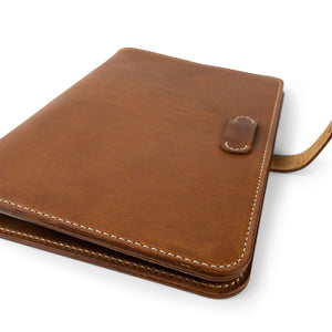 Handmade iPad Pro 11-inch portfolio case| English Tan