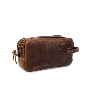 Leather Dopp kit Bag | Brown