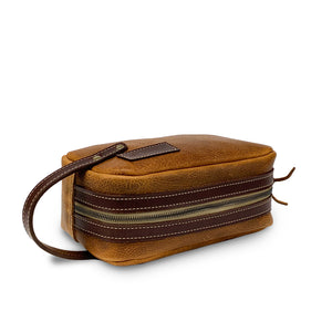 Leather Dopp kit Toiletry Bag | Tan