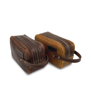 leather travel Dopp kit toiletry bags