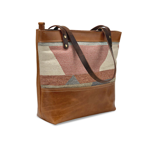 Brown Leather tote bags and purses | Tan
