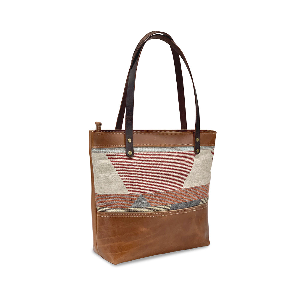 Brown Leather tote bags and purses
