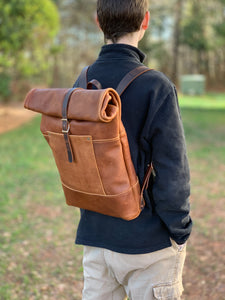Travelers Roll Top Backpack | Sunset Sage